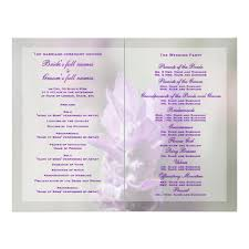 wedding program layout free sle wording for wedding programs wedding prog