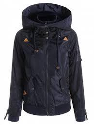 skew zippered long sleeve thick hoodie rosegal com
