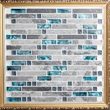 Wholesale Grey Stone With Crystal Glass Mosaic Tile Sheet - Stone glass mosaic tile backsplash
