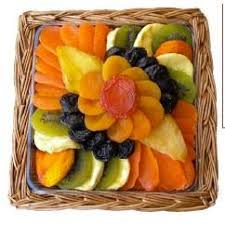dried fruit gift square flower dried fruit gift platter crafted kosher