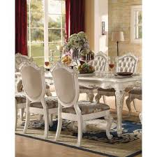 acme united chantelle pearl white formal traditional 9pcs dining