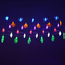 Purple Led Halloween Lights Halloween Blue Bats Festive Led Fairy String Party Lights 1 7m