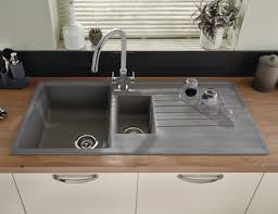 Lamona Grey Granite Composite  Bowl Sink Kitchen Sinks - Kitchen sinks granite composite