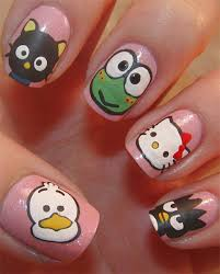 cute u0026 simple hello kitty nail art designs u0026 stickers nail art