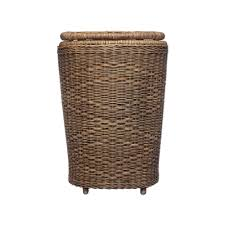 java laundry basket dark brown 42 x 38 x 62 cm