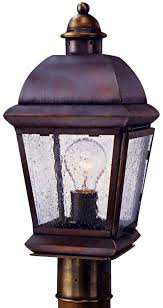 Outdoor Electric Post Lights by Milford Electric Outdoor Copper Lantern Post Light Head