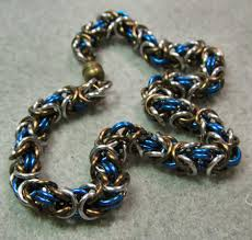 necklace link patterns images Chain maille tutorial byzantine and box chain maille jewelry jpg