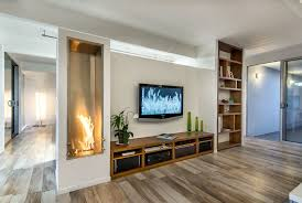 Decorating Midcentury Family Room Plus Fireplace Low And - Family room cabinet ideas