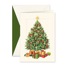 tree boxed christmas cards