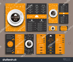templates business cards a4 menu folding stock vector 574194358 templates business cards a4 menu folding brochures and flyers narrow for a restaurant or