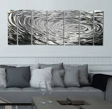 Modern Wall Art Amazon Com Large Silver Modern Metallic Wall Sculpture With Rain
