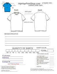 t shirt order form template cyberuse