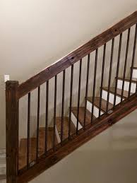 Railings And Banisters Best 25 Rustic Stairs Ideas On Pinterest Industrial Basement