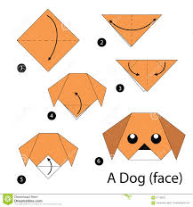 Origami Pets - step by step how to make origami a stock