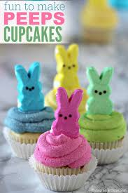 Easter Cupcake Decorating With Peeps by Peeps Cupcakes Easy Easter Cupcakes Easter Dessert Recipes