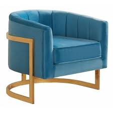 Aqua Accent Chair Velvet Accent Chair