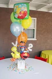 Elmo Centerpieces Ideas by Sesame Street Party Balloon Centerpiece Carolynhortenevents Com