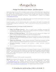 Pricing Analyst Resume Hedge Fund Analyst Resume Free Resume Example And Writing Download