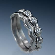 palladium rings half eternity bridal set wedding rings palladium size 6 8