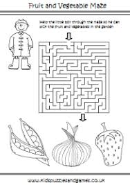 fruit and vegetable kids puzzles and games