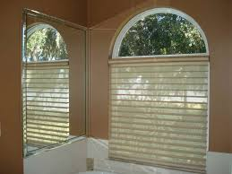 Circle Window Blinds Top Arch Window Coverings Roselawnlutheran Concerning Semi Circle