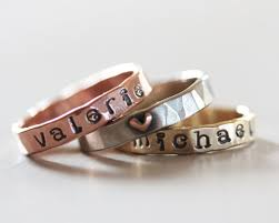 day rings personalized personalized ring custom name mothers day gift kids name