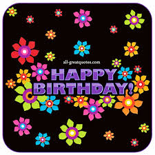 birthday cards happy birthday bright colored animated birthday card with flowers