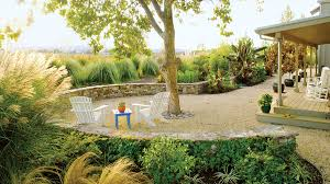 Loose Gravel Patio Landscaping Ideas With Stone Sunset