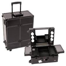 makeup luggage with lights sunrise tabletop makeup case with mirror and lights black
