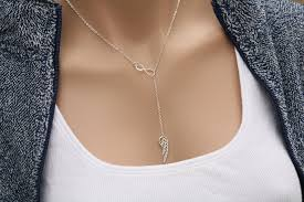 silver necklace wings images Infinity angel wing necklacesterling silver wing delicate jpg
