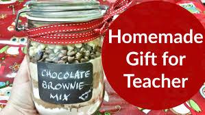 chocolate brownie mix in a jar teacher gift christmas 2015 youtube
