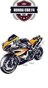 2014 cbr 600 honda cbr 600 f4 poster a2 vector by ow4nd on deviantart