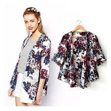 cardigan kimono 2017 2016 summer print women kimono cardigan knitted chiffon