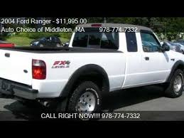 ford ranger for sale in ma 2004 ford ranger fx4 level ii supercab 4wd for sale in mid