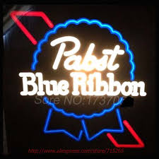 cheap light up beer signs online shop pabst blue ribbon neon sign store display handcrafted