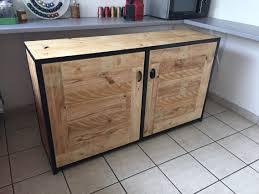 cuisine bois acier charmant meuble bas evier cuisine 10 module cuisine buffet acier