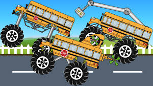bus monster truck videos super bus monster truck compilation kids video youtube