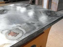 plan de travail cuisine en zinc plan de travail cuisine en zinc recouvrir un plan de travail en zinc