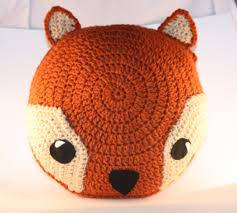 Knitted Cushions Free Patterns Round Pillow Crochet Pattern Free Warm Orange Fox Pillow