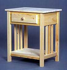 Unfinished Pine Nightstand Living