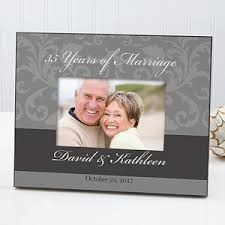 Personalized Wedding Photo Frame Personalized Wedding U0026 Anniversary Damask Picture Frame