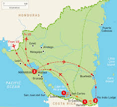 Nicaragua On World Map by Adventure In The Jungle Of Nicaragua Troy Tours