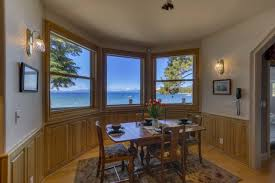 lakefront home dining room windows over look the lake home