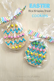 easter table favors handmade easter party favors rice krispies treat cookies honey