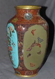 Enamel Vase Antiques Regional Art Asian Japanese Enamel Trocadero