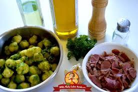 cuisiner choux de bruxelles frais recette de choux de bruxelles aux gésiers confits petits plats