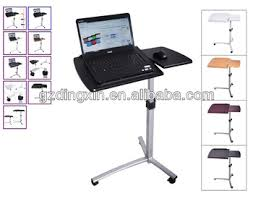 angle height adjustable rolling laptop desk over bed hospital