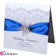 royal blue wedding invitations royal blue snowflake wedding invitations stationery royalblue
