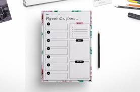 Daily Planners Templates Elegant Weekly Planner Daily Planner By Chic Templates