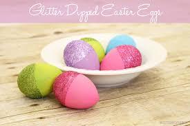 styrofoam easter eggs glitter dipped easter eggs
